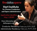 2021 Linda and Mitch Hart Institute of Women Conductors (HIWC) at The Dallas Opera: Apply Now!
